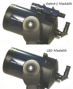 Optický hľadáčik vs. LED hľadáčik pre astro teleskop